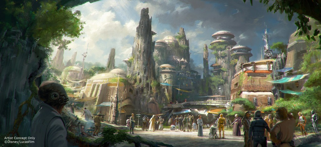 Disney Releases New Star Wars Land Drone Footage